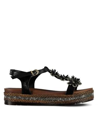 Marjin Sandalet Siyah